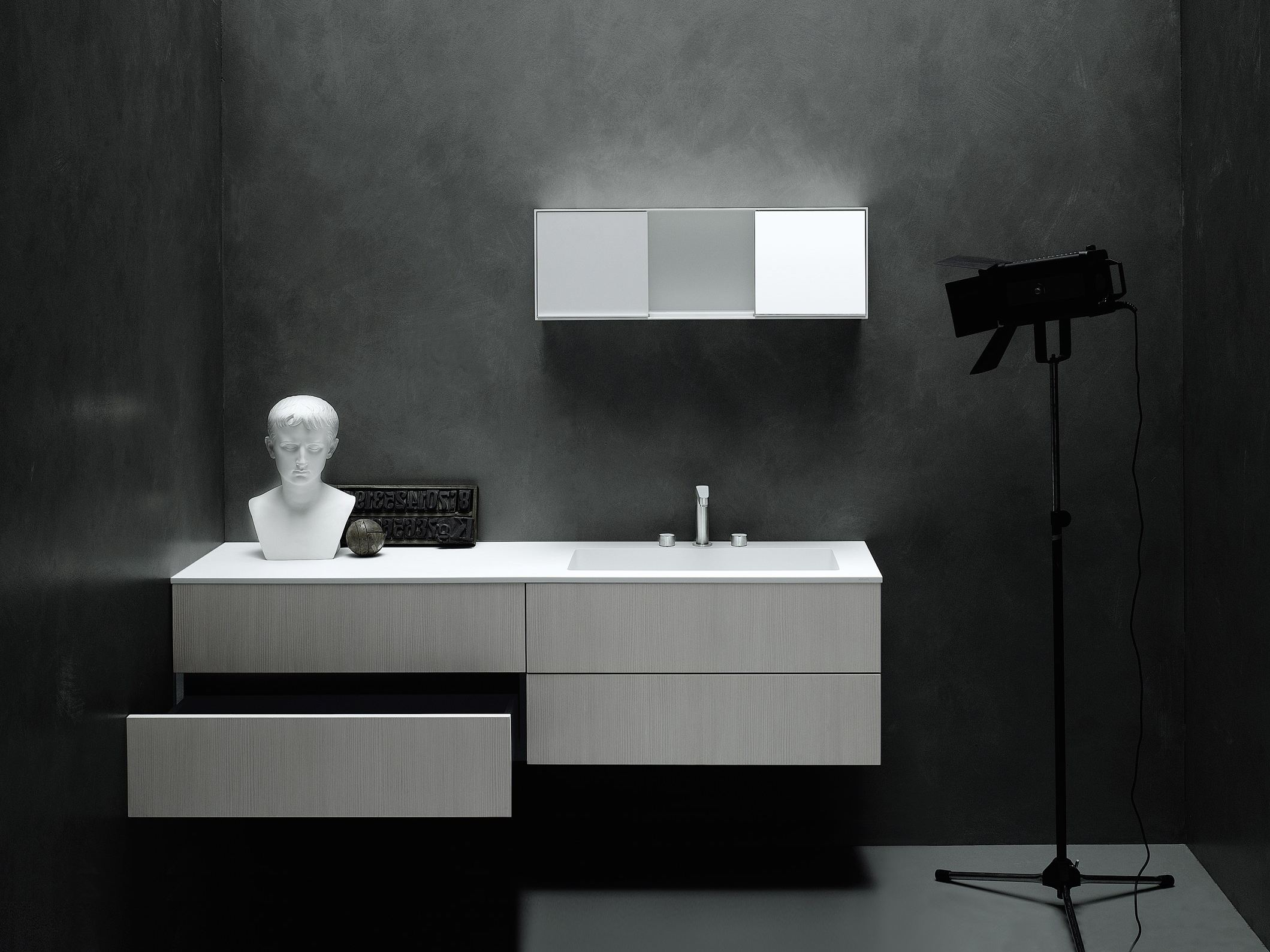 meuble sous vasque mural avec tiroirs simple by boffi. Black Bedroom Furniture Sets. Home Design Ideas