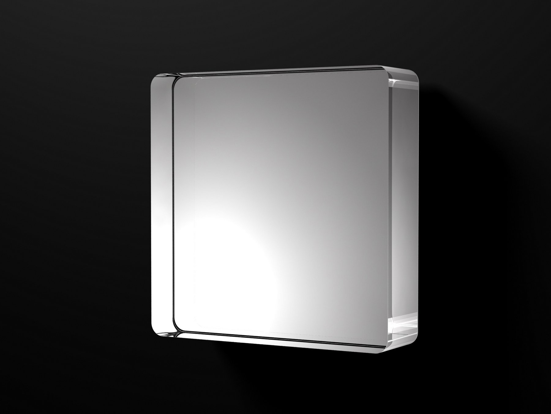 Mercury specchio quadrato by boffi design claesson for Specchio bagno 3d