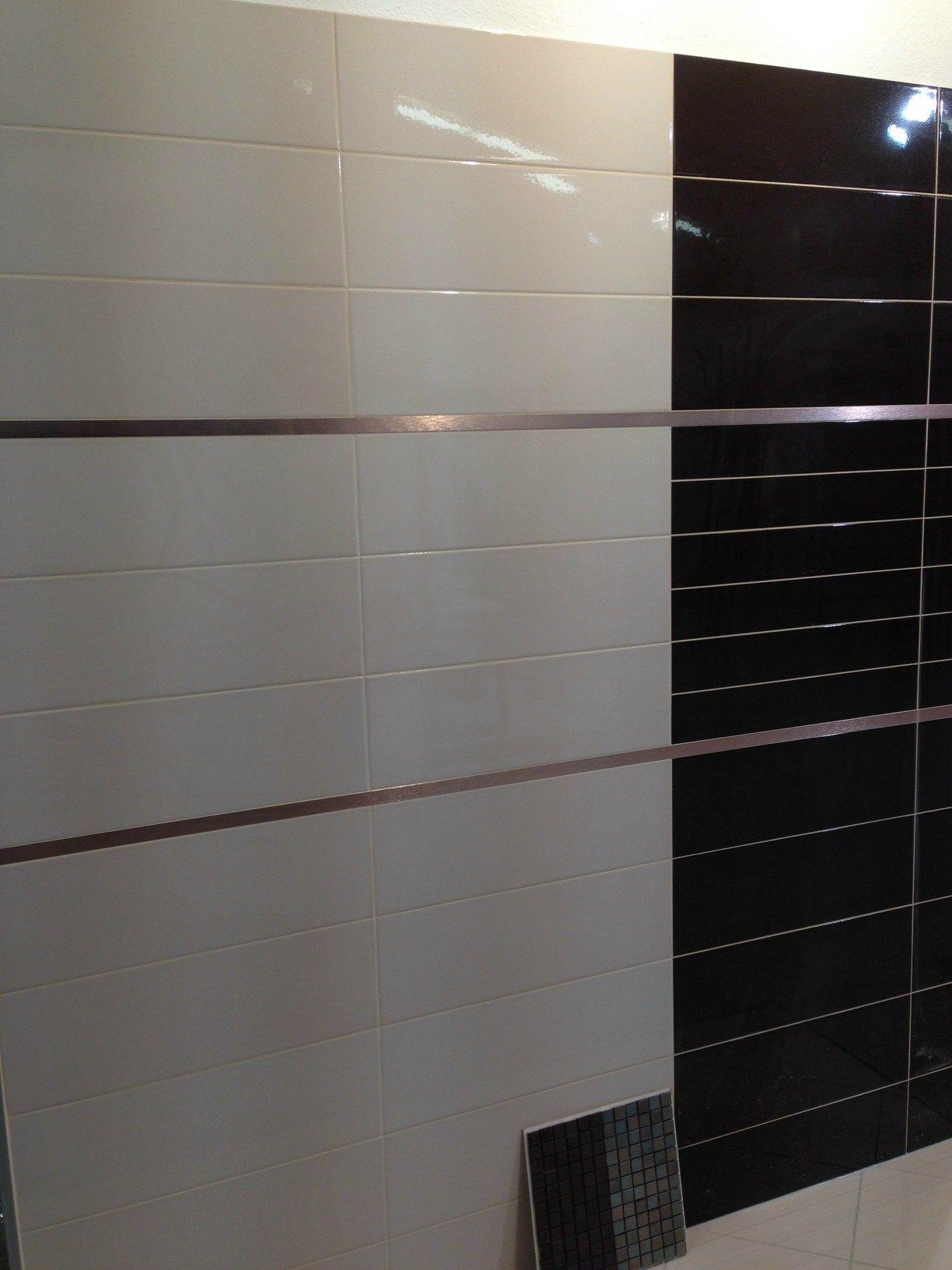 Profil de finition en acier bross pour murs prolistel for Ajax gel salle de bain
