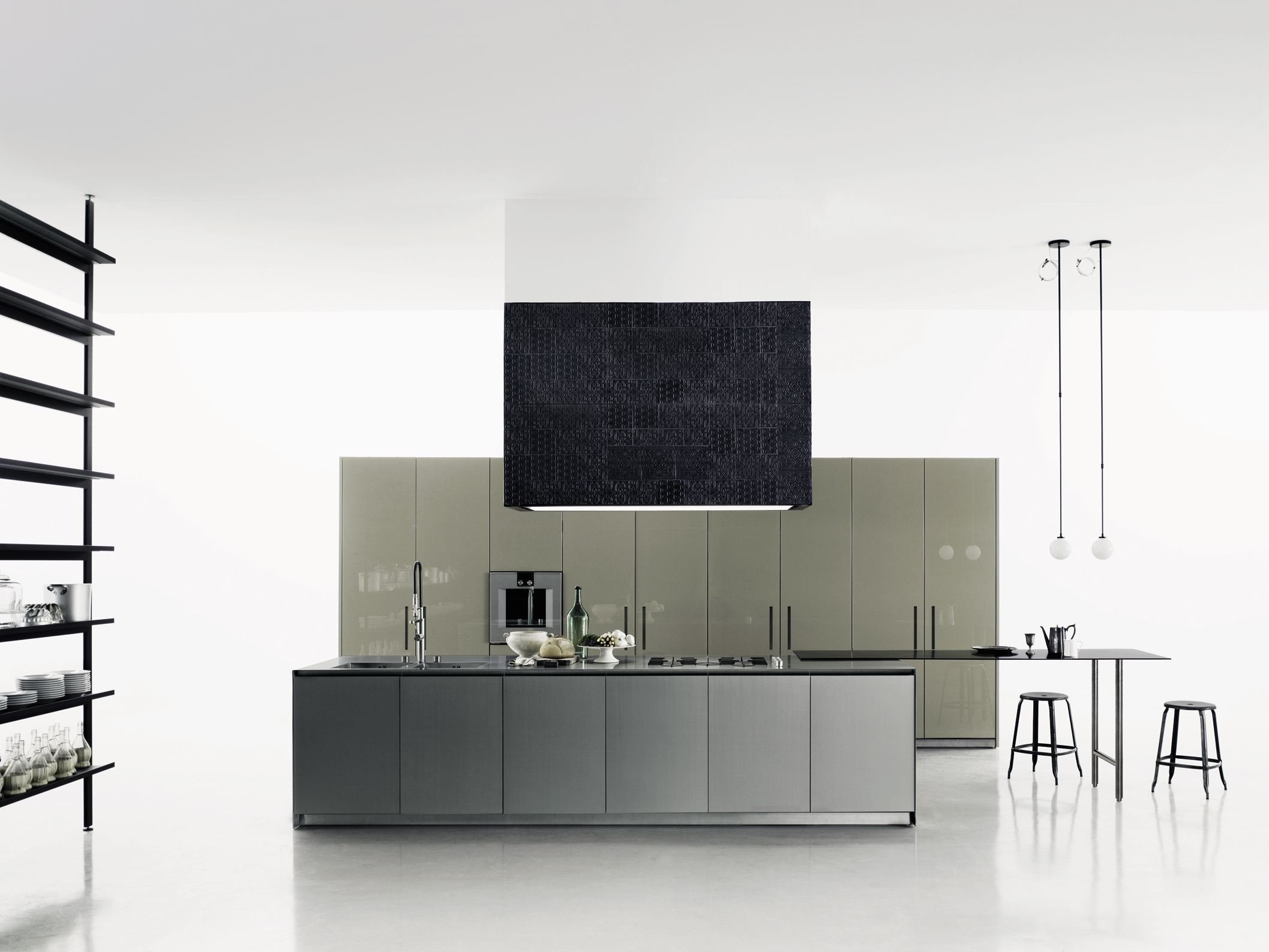 cuisine en corian avec lot aprile by boffi design piero. Black Bedroom Furniture Sets. Home Design Ideas