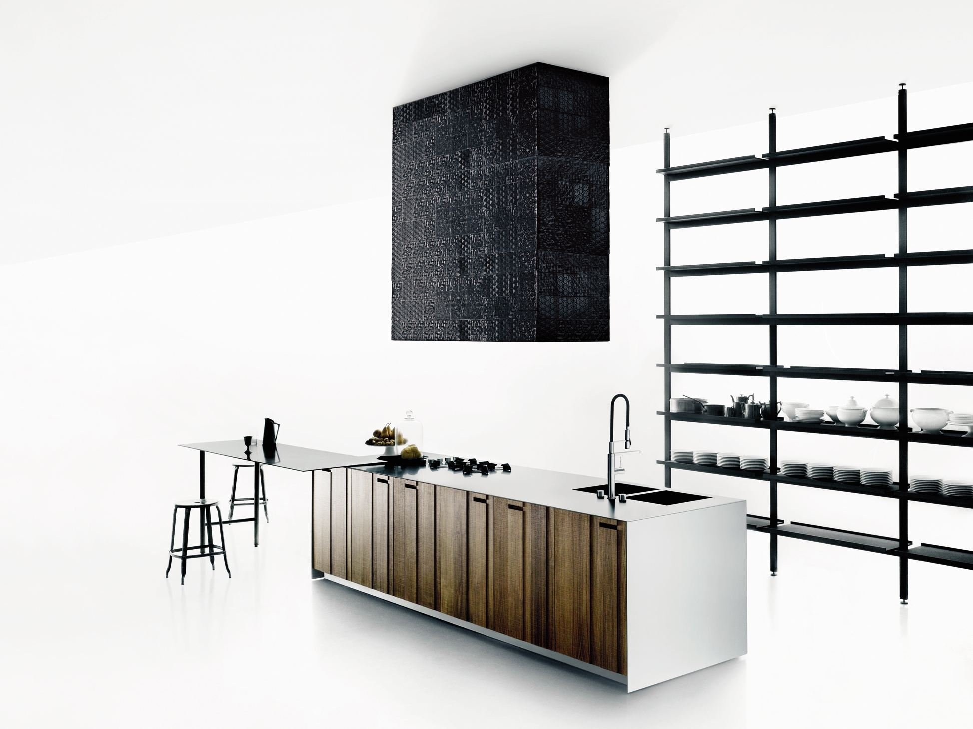 Solid Wood Kitchen With Island Aprile By Boffi Design