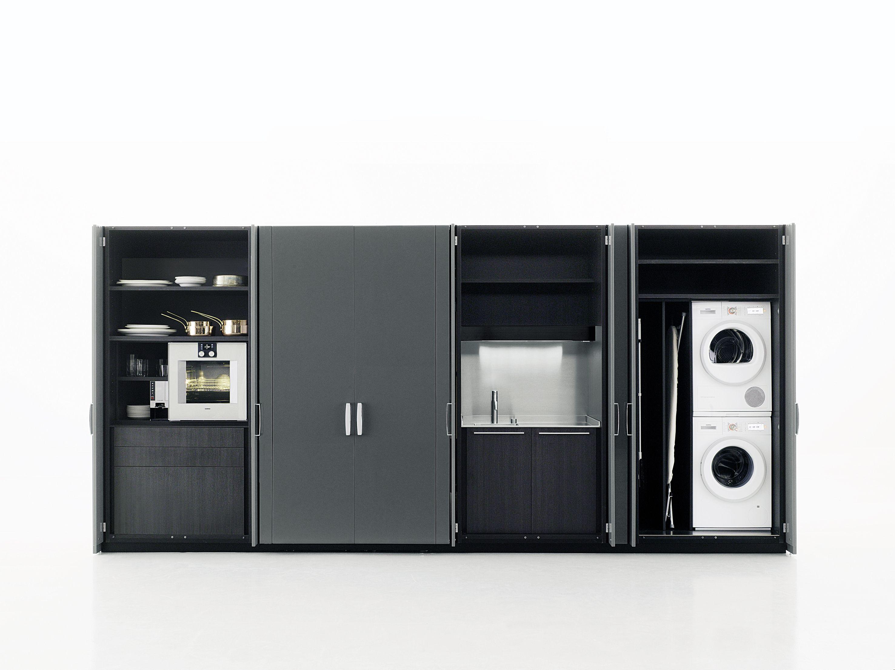 wooden kitchen laundry room cabinet hide by boffi design. Black Bedroom Furniture Sets. Home Design Ideas
