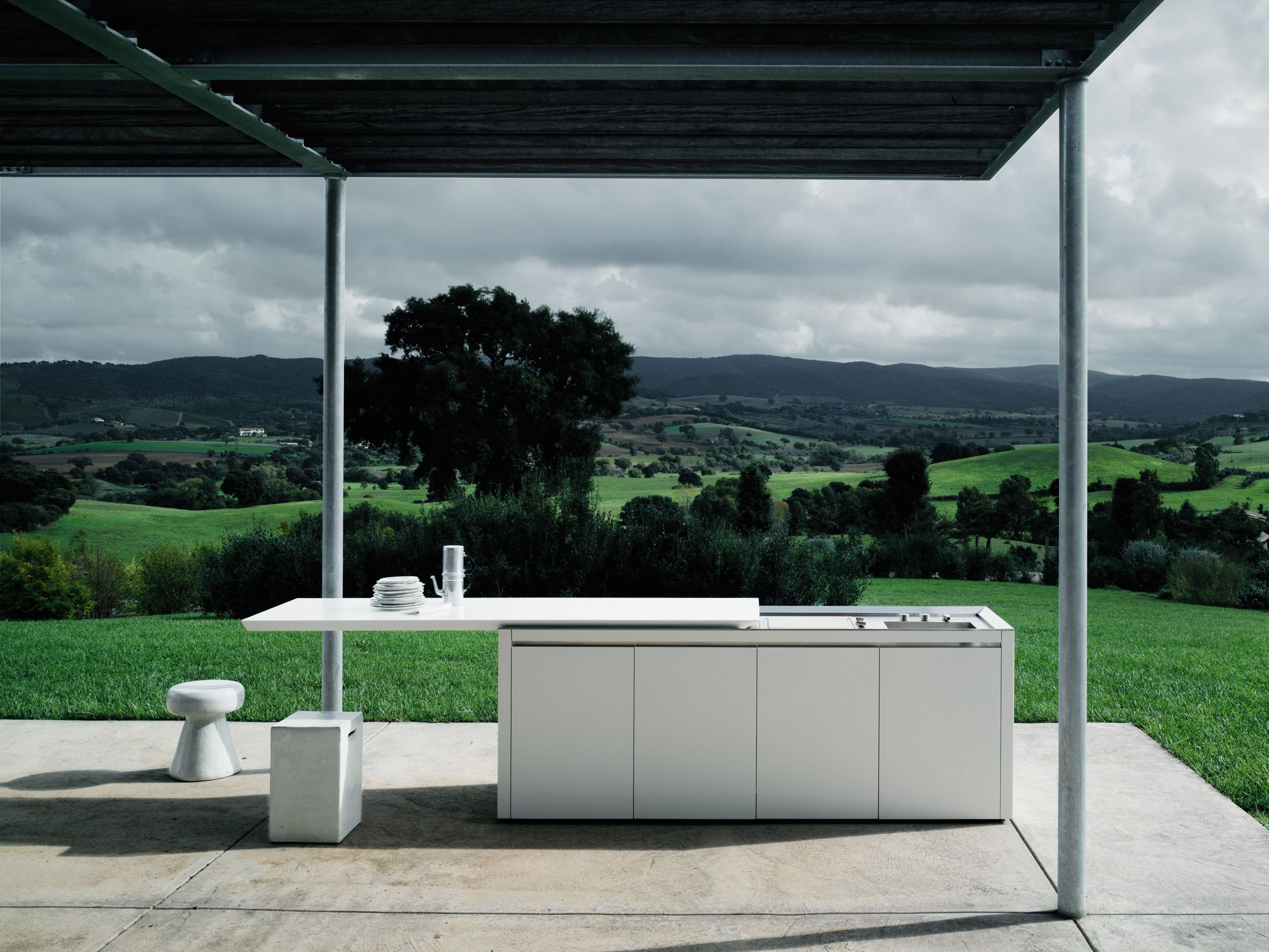 cuisine d ext rieur en corian k2 outdoor by boffi design