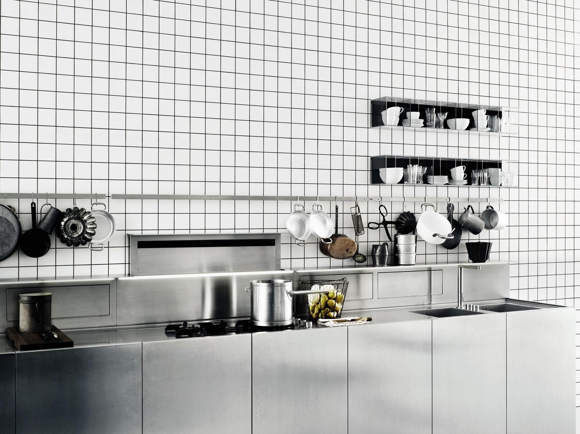 Zeilen- Küche Aus Edelstahl K20 By Boffi Design Norbert Wangen Design Edelstahl Kuchen