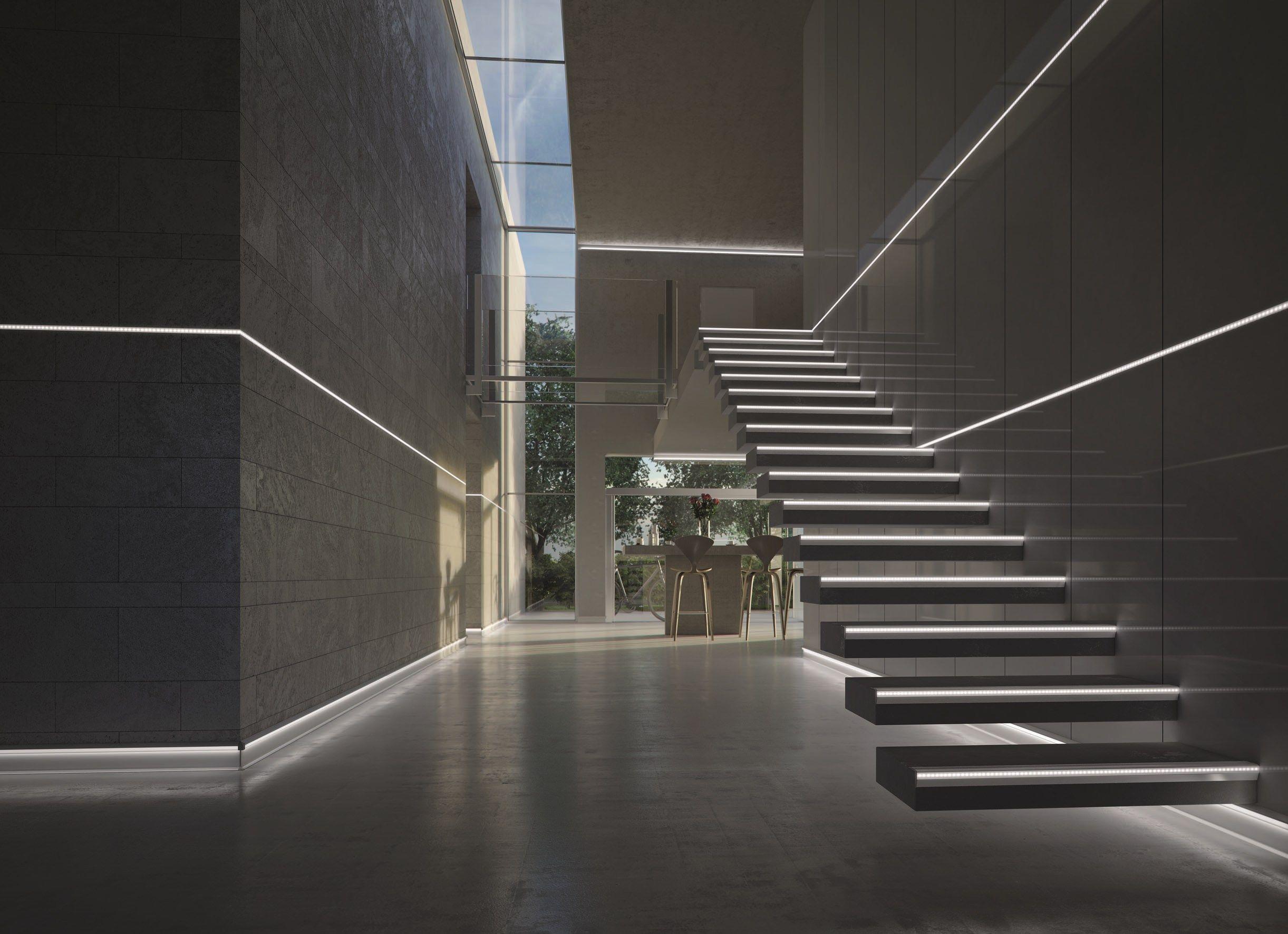 profil de protection des marches en aluminium avec led prostair led by progress profiles. Black Bedroom Furniture Sets. Home Design Ideas