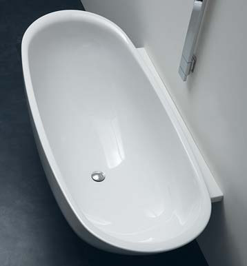 Io vasca da bagno by ceramica flaminia design triplan - Vasche da bagno in ceramica ...