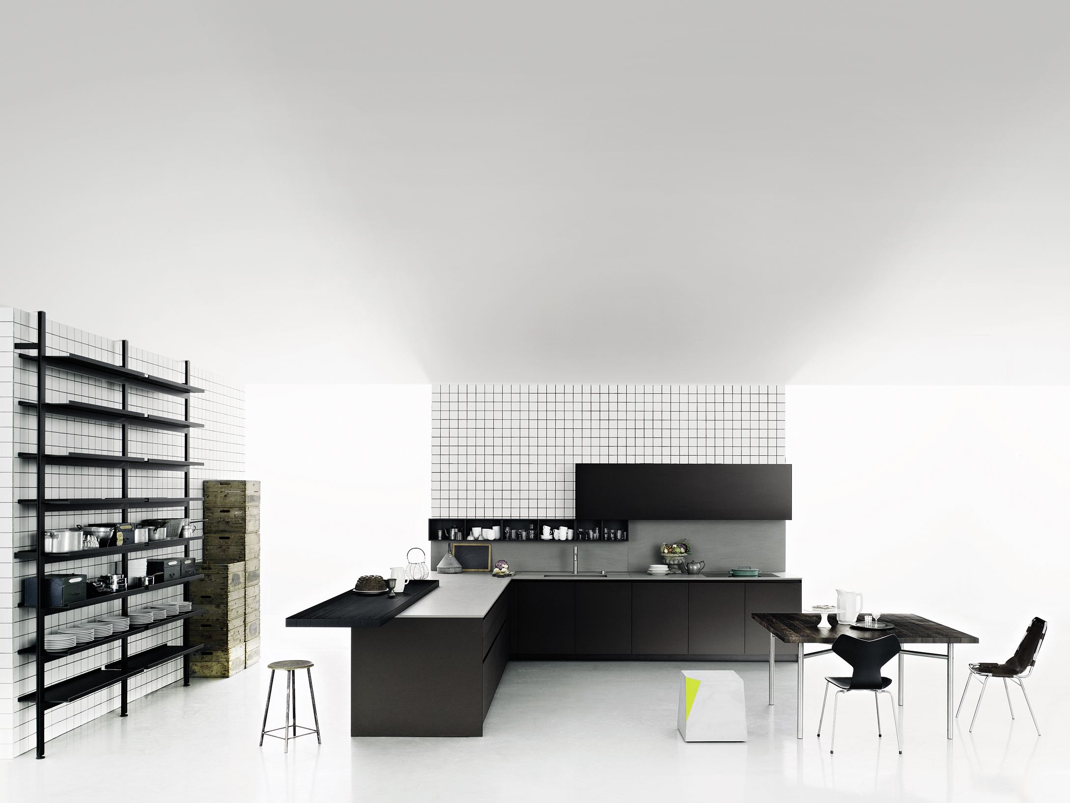 k che mit halbinsel ohne griffe xila by boffi. Black Bedroom Furniture Sets. Home Design Ideas