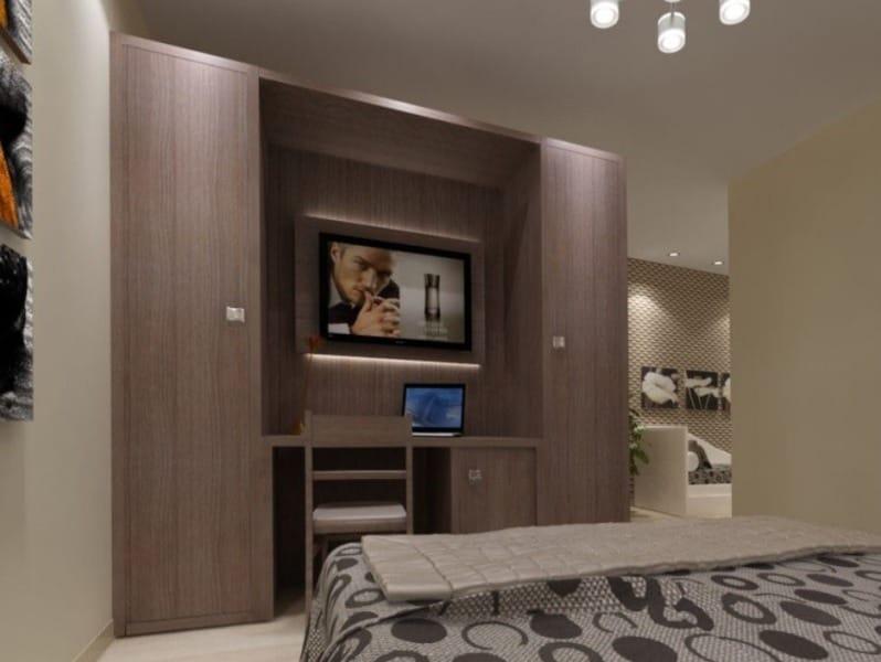 Zeus armoire avec tv int gr by mobilspazio contract for Armoire television salon
