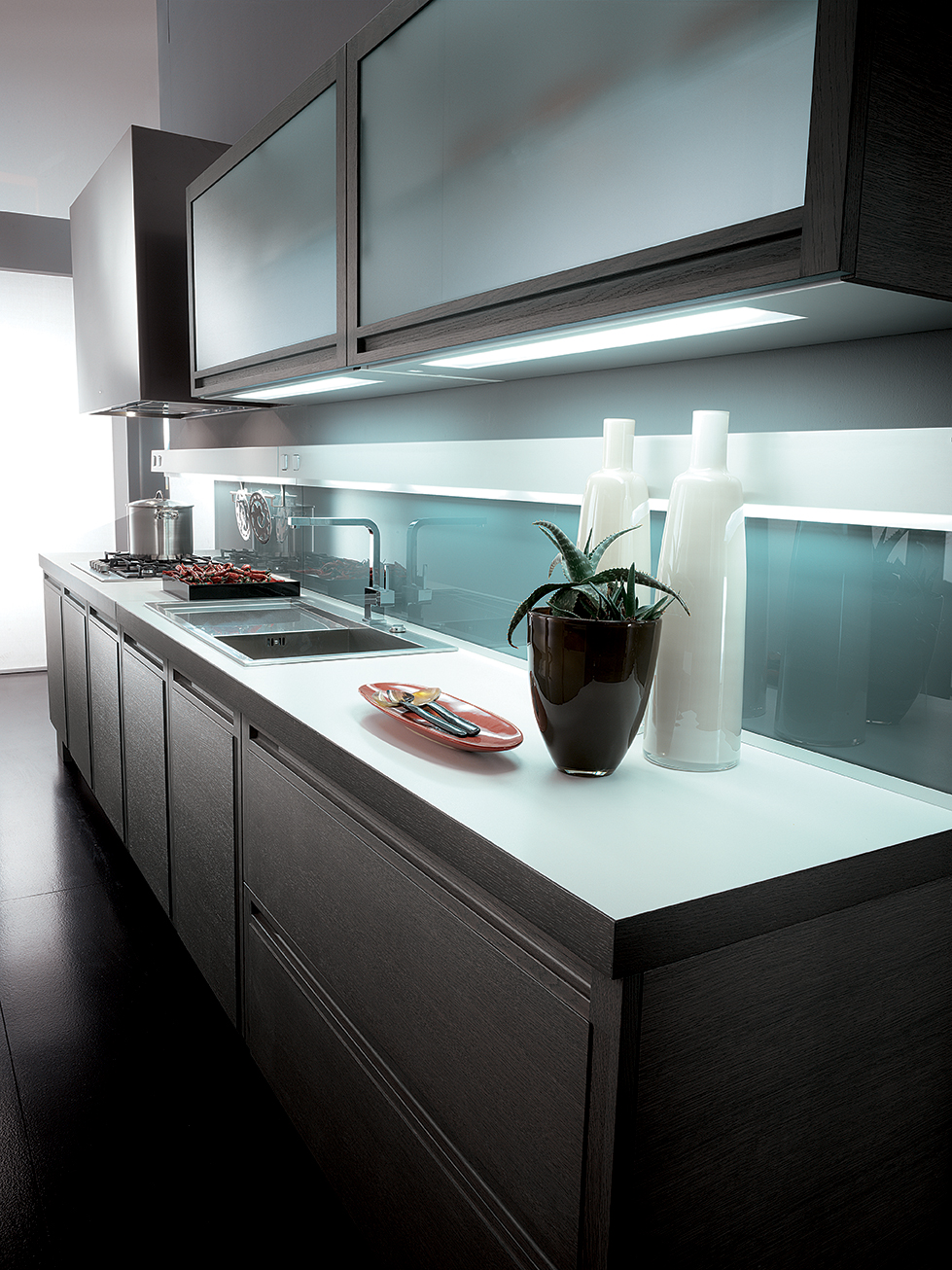 Milano cuisine lin aire by biefbi design fred allison for Cuisine lineaire 4 metres