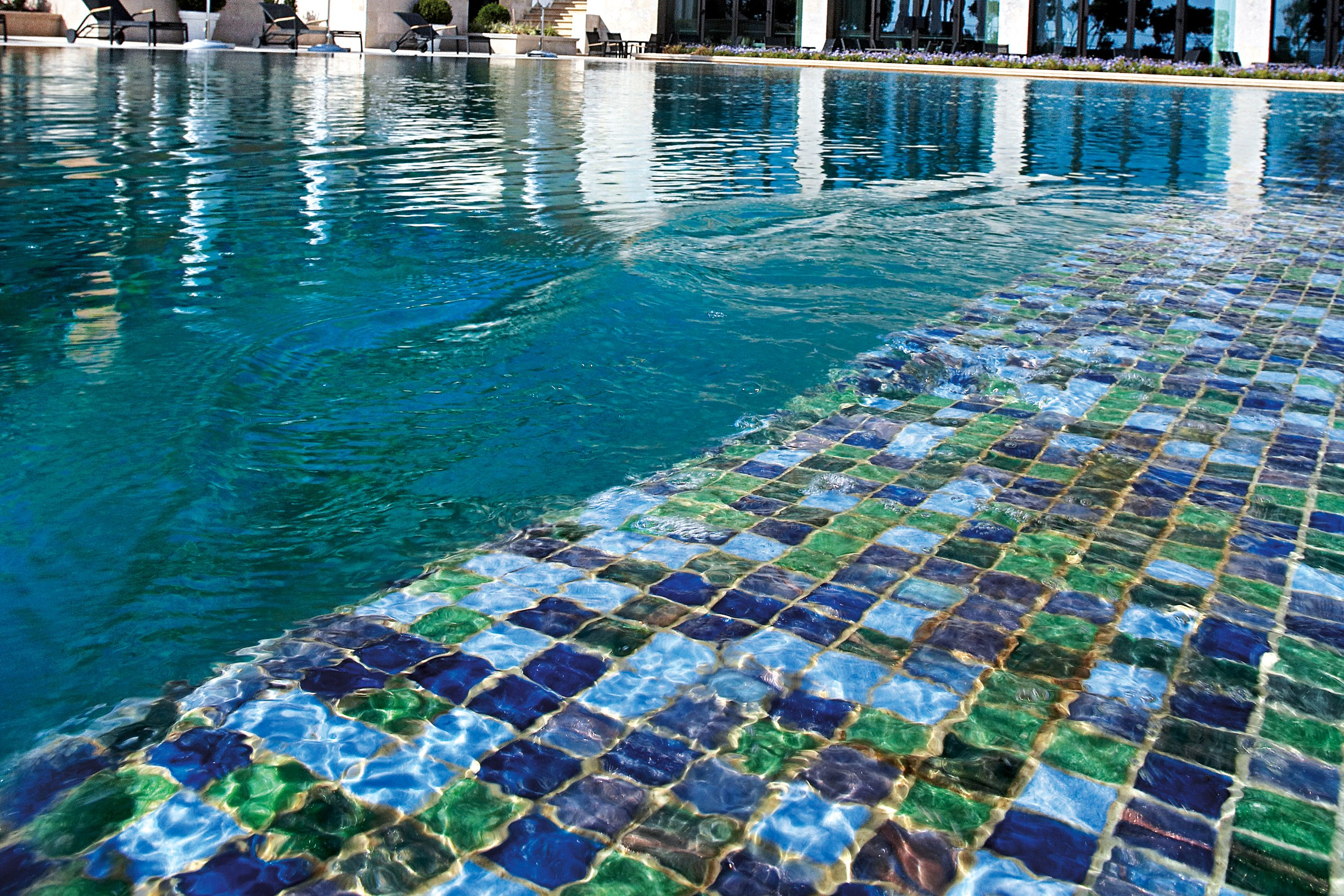 Glass mosaic mix 1x1 by trend group - Mosaic pool tiles ...