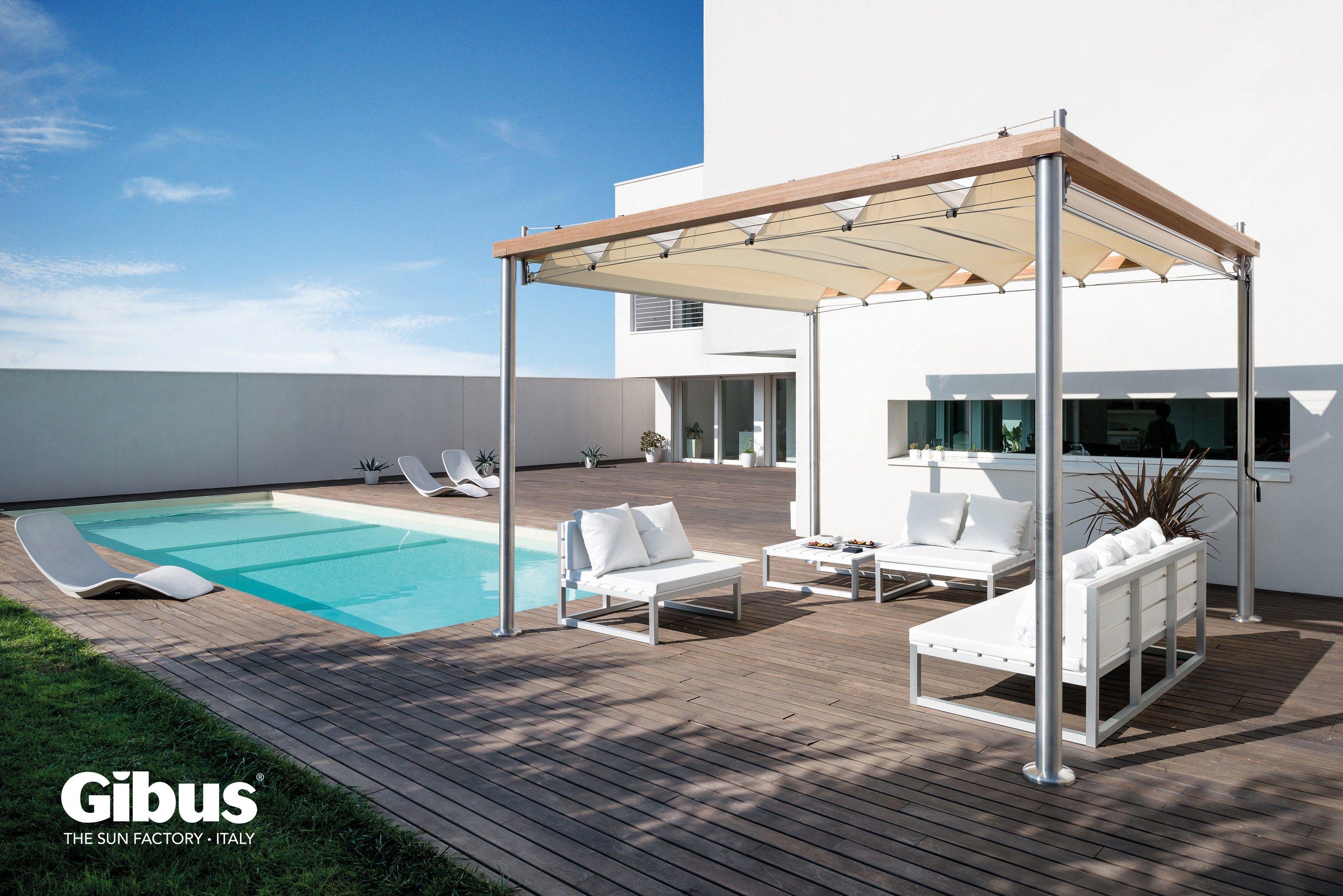 rada pergola avec couverture coulissante by gibus. Black Bedroom Furniture Sets. Home Design Ideas