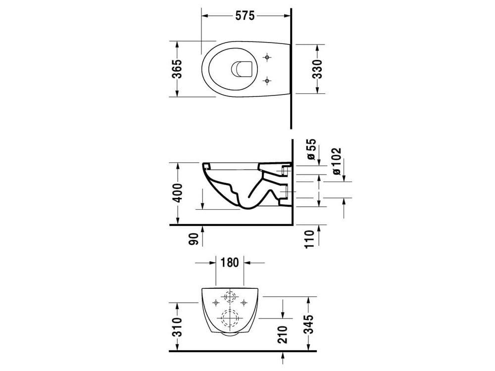 architec wc suspendu by duravit design frank huster. Black Bedroom Furniture Sets. Home Design Ideas