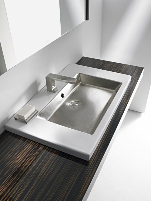 2nd floor washbasin by duravit design sieger design. Black Bedroom Furniture Sets. Home Design Ideas