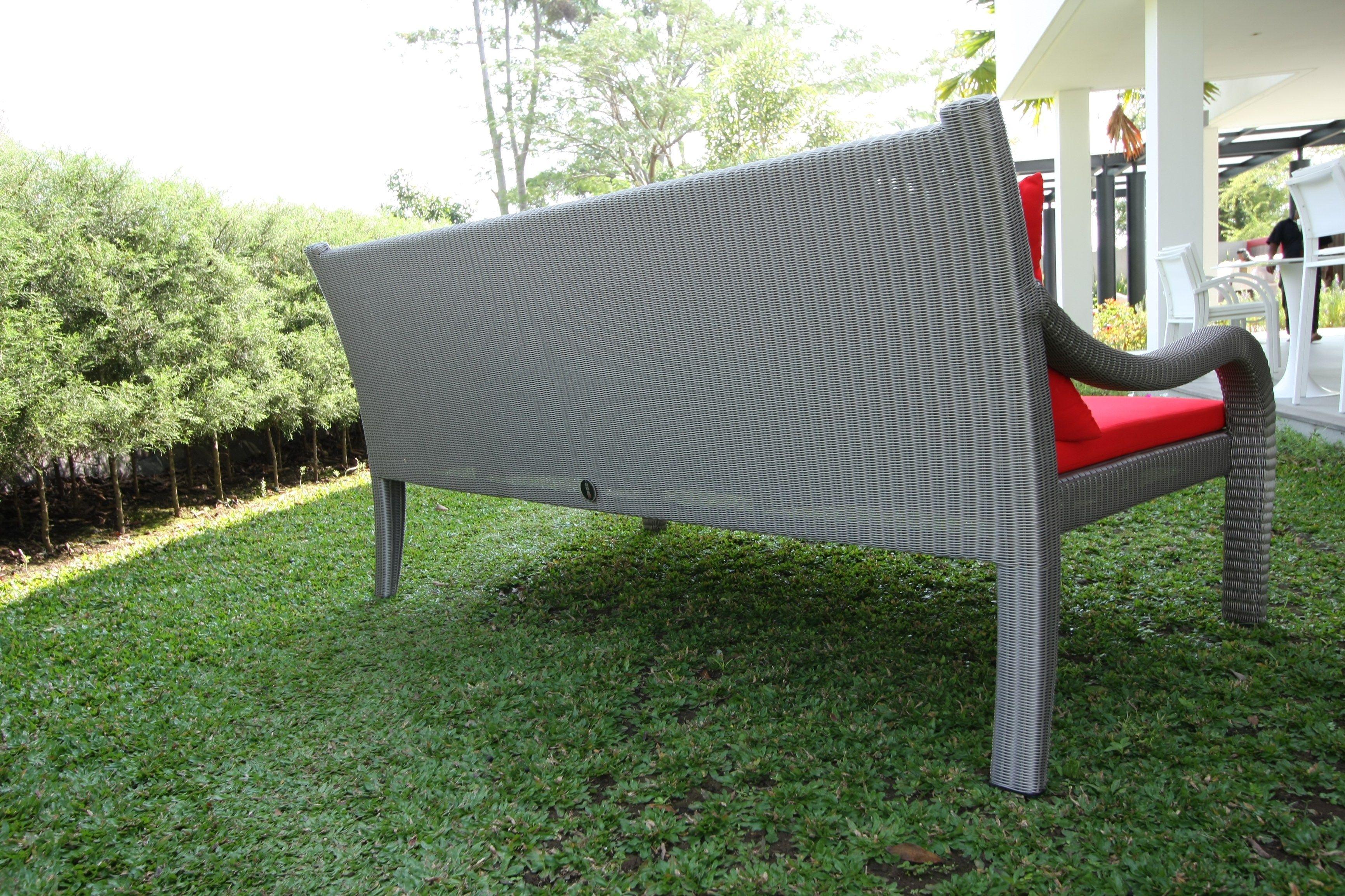 Panca da giardino in Sunbrella® con braccioli ANTIQUE  Panca da ...