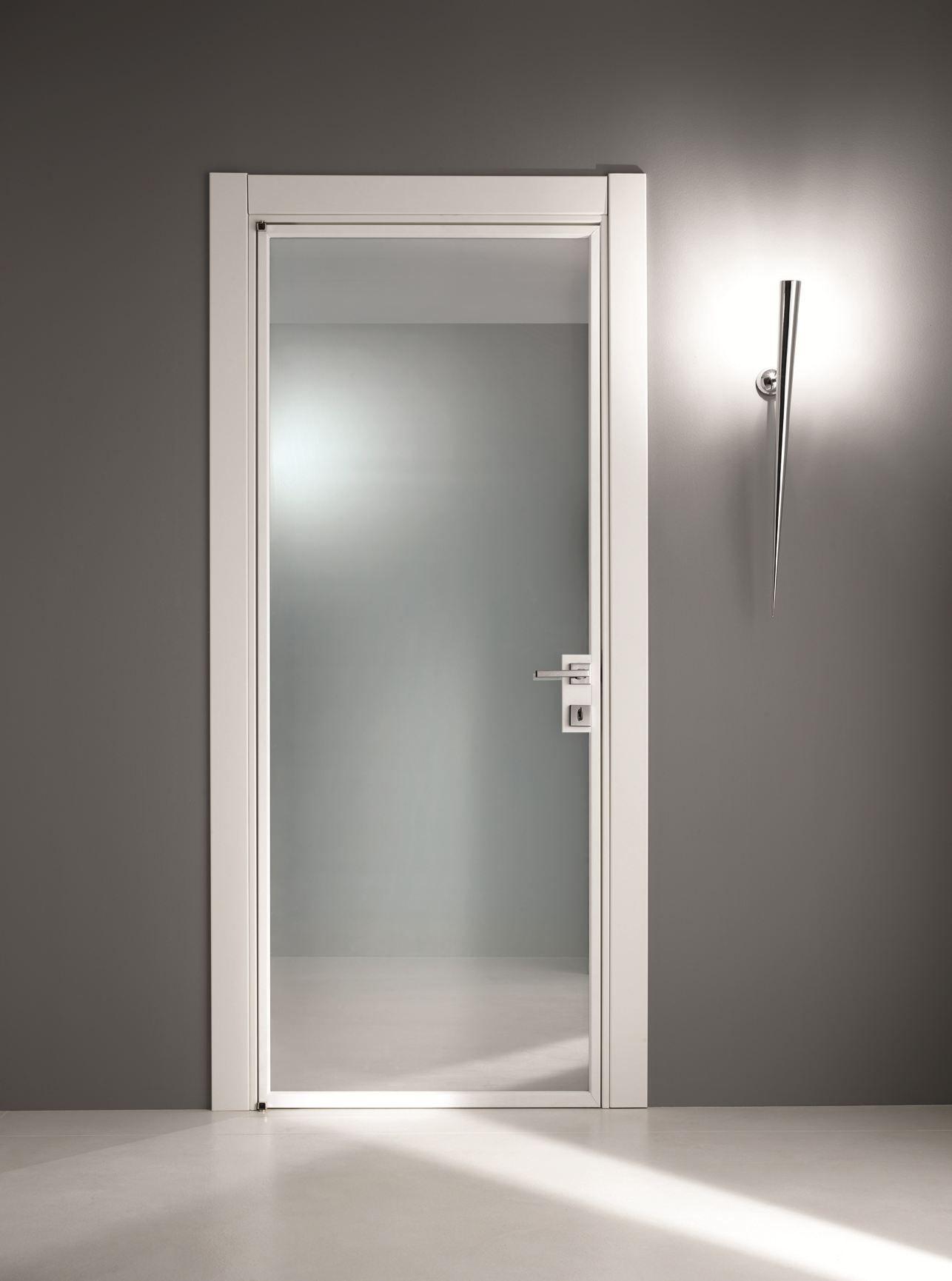 Stilia puerta de vidrio esmerilado by gidea for Puertas de paso de cristal