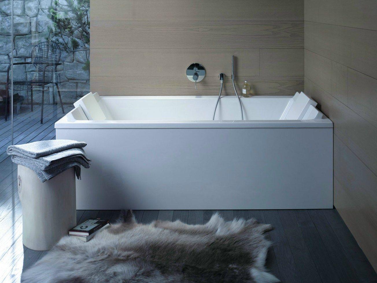 Starck vasca da bagno rettangolare by duravit design - Vasca acrilico ...