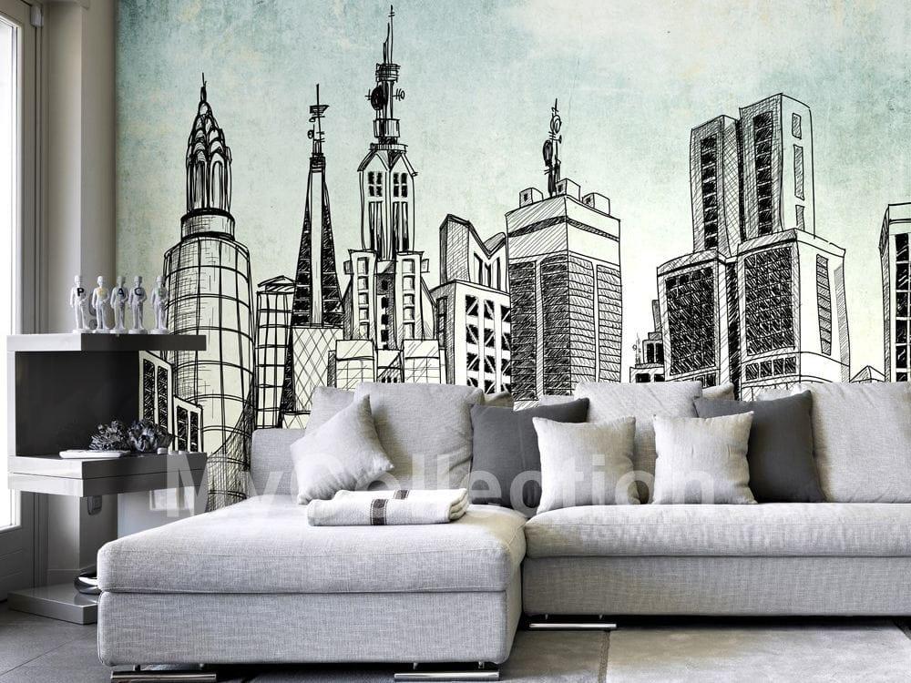Papel pintado de tejido no tejido de estilo moderno con for Papel pintado moderno