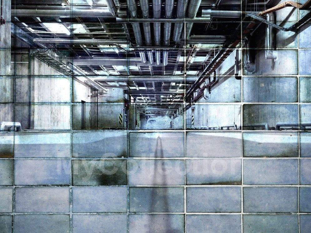 Carta da parati a motivi industrial by for Carta da parati industrial