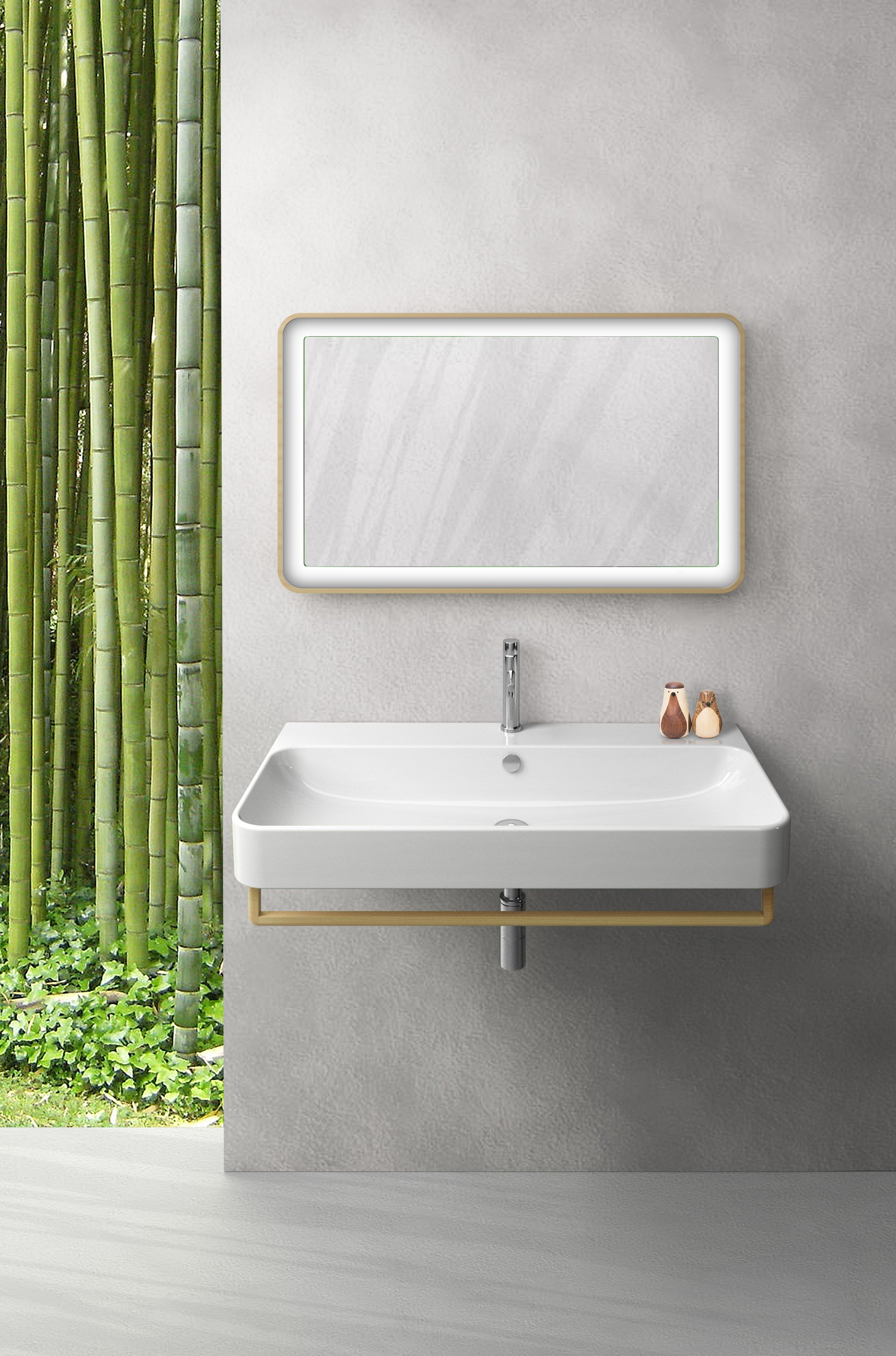 Green wall mounted washbasin by ceramica catalano for Ceramica catalano
