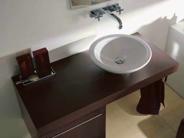 FOGO Piano lavabo in legno impiallacciato by DURAVIT -> Cuba De Apoio Para Banheiro Herval Ravenna