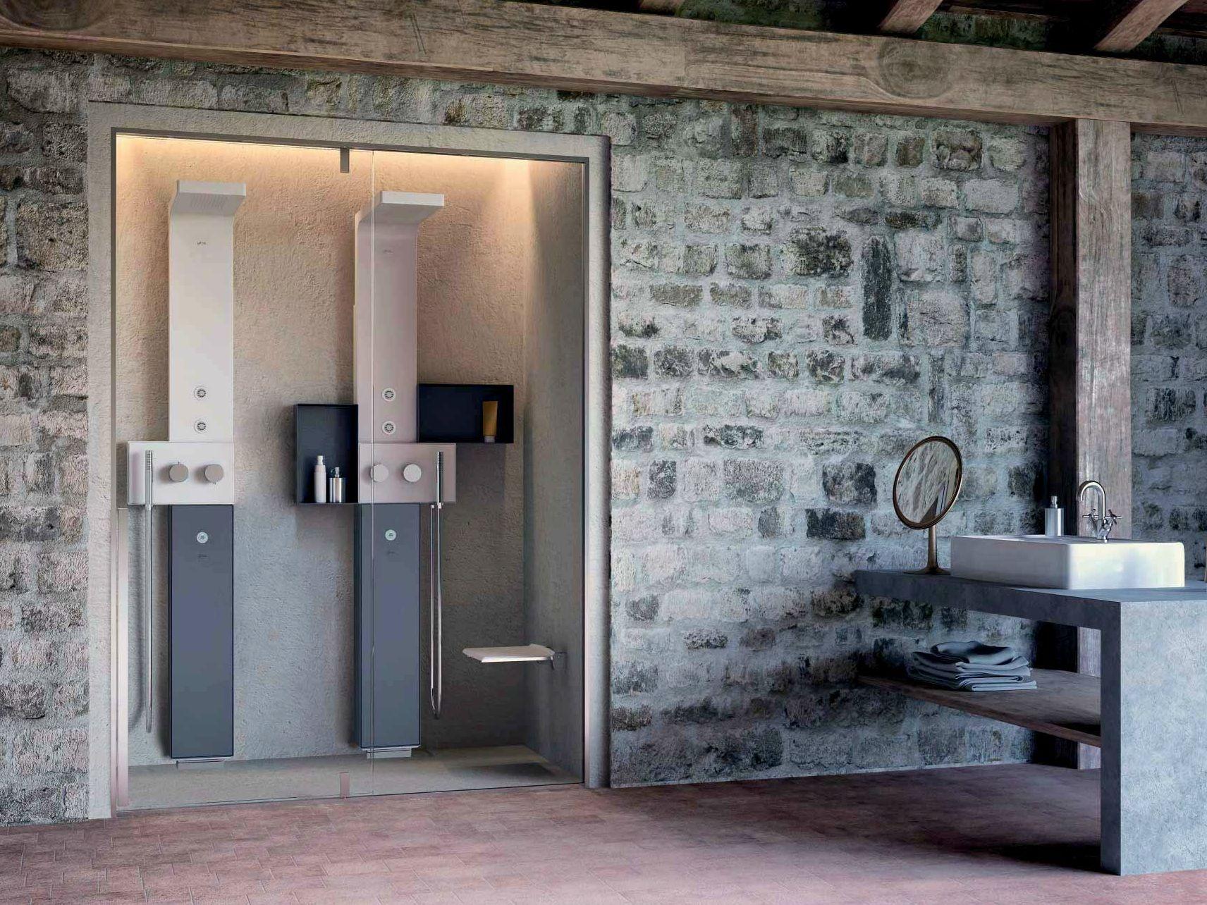 Diseno Baños De Vapor:Cabina de ducha en nicho con baño de vapor OSMOS STEAM