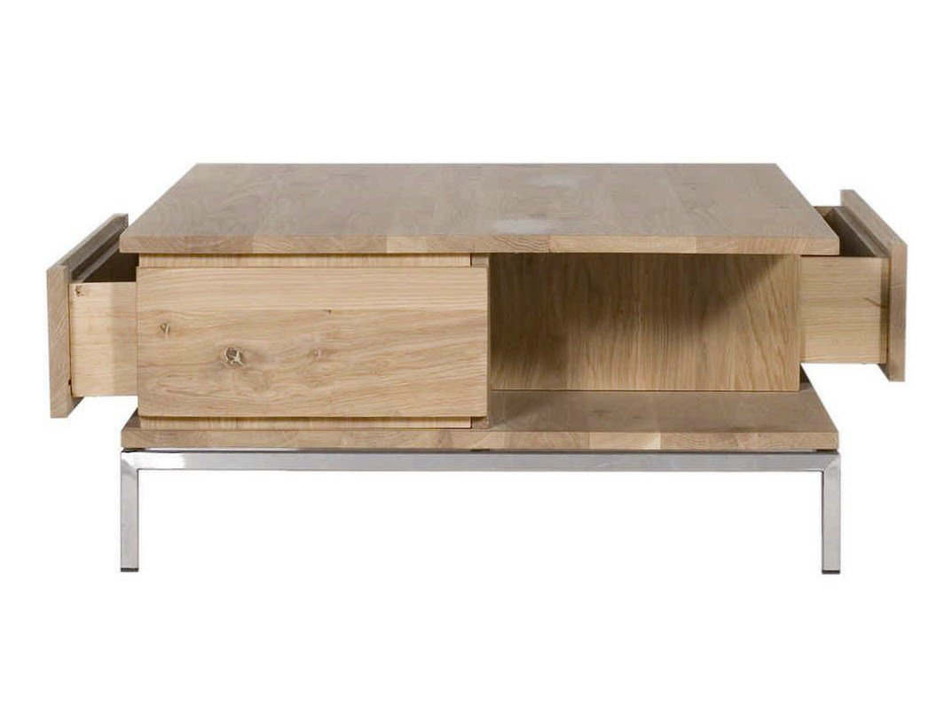 Oak ligna coffee table by ethnicraft for Table basse ethnicraft