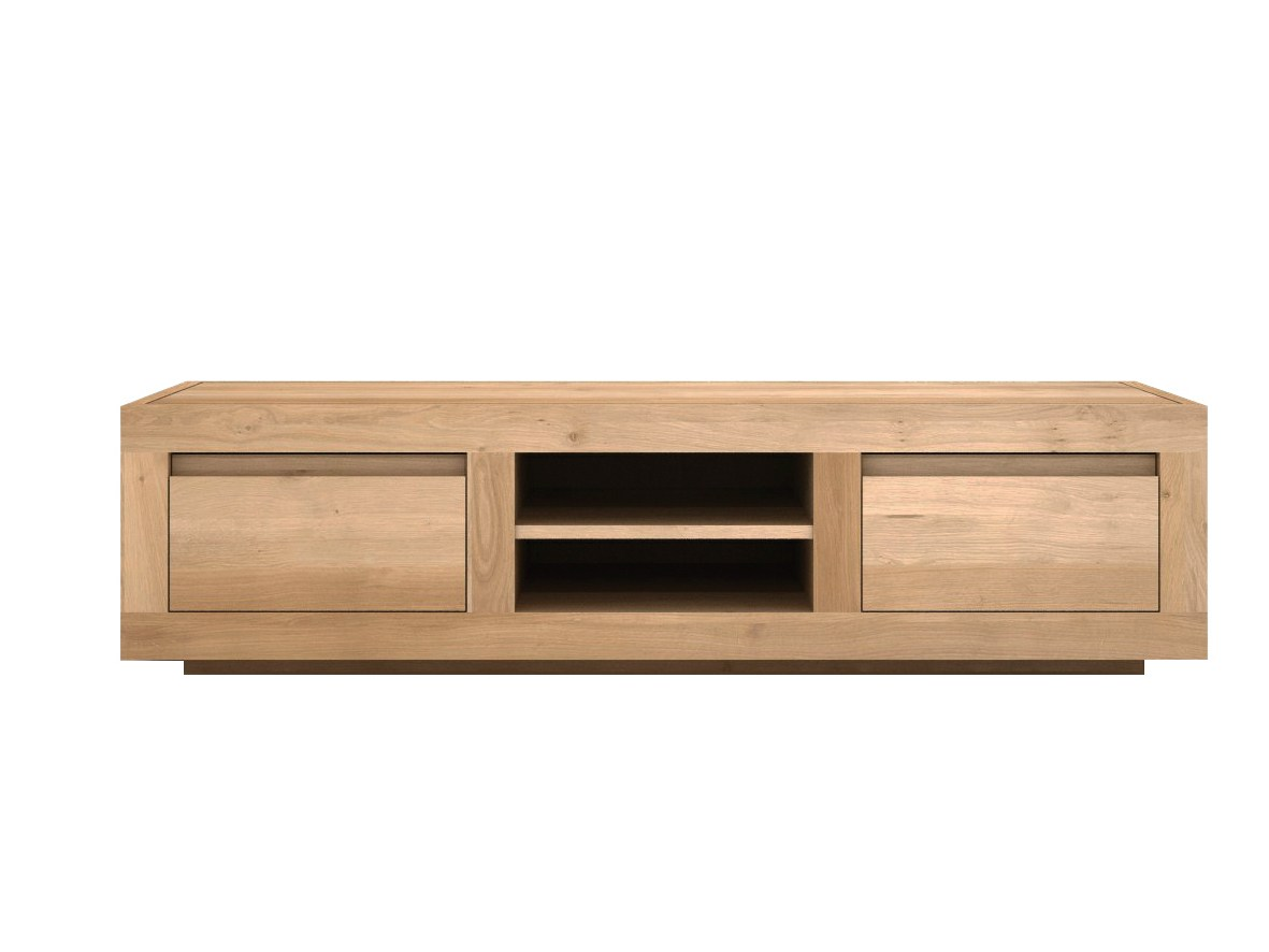 oak flat tv cabinet by ethnicraft. Black Bedroom Furniture Sets. Home Design Ideas