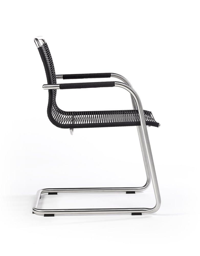 Freischwinger aus Seil mit Armlehnen SWING  Stuhl aus Seil  FISCHER