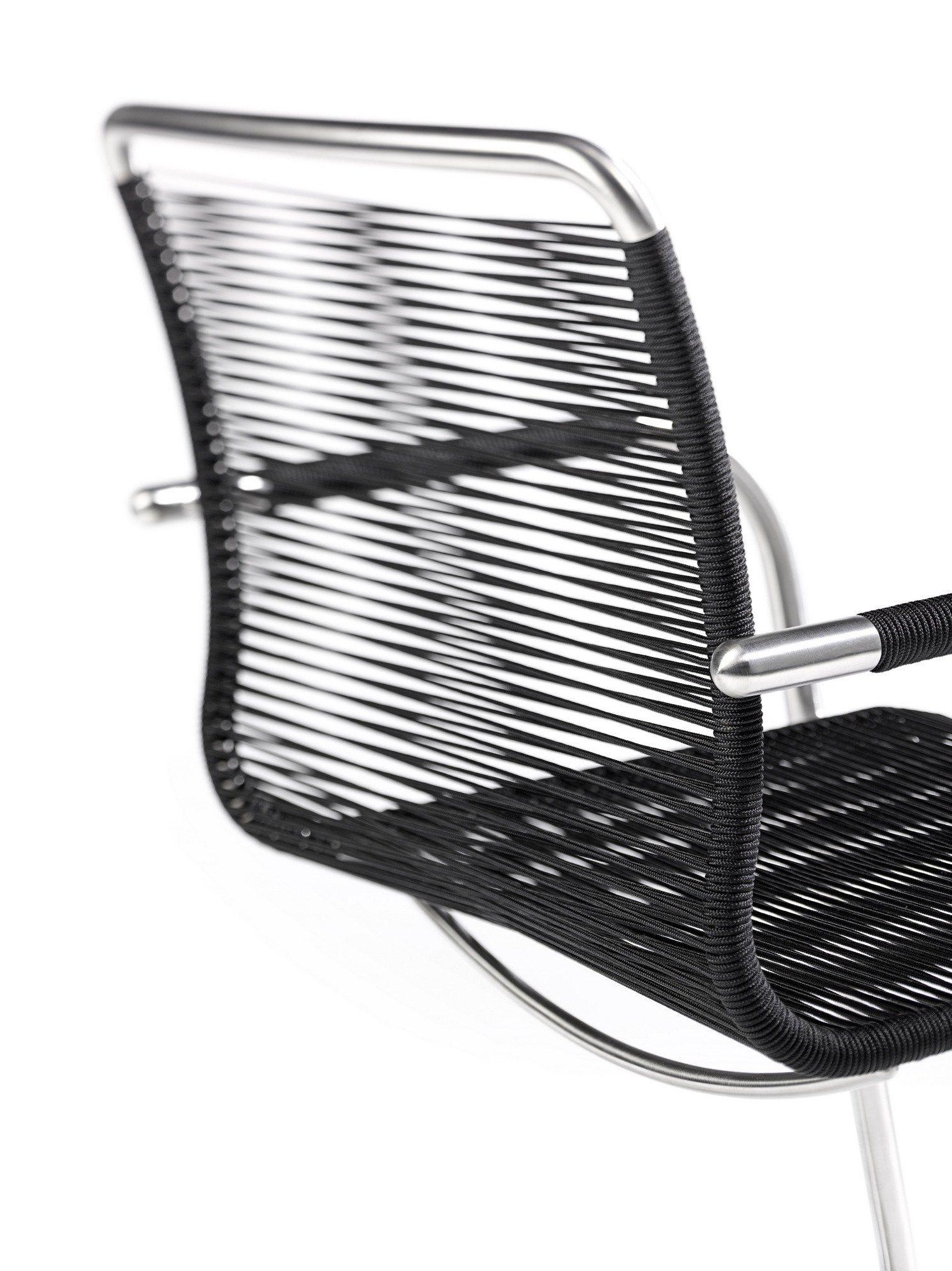 Teakholz Gartenmobel Outlet : Freischwinger aus Seil mit Armlehnen SWING  Stuhl aus Seil  FISCHER