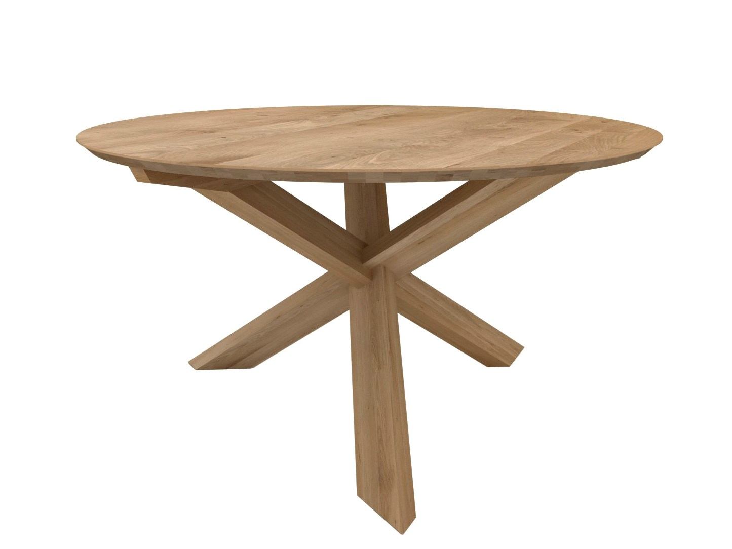 Oak circle table by ethnicraft design alain van havre for Table a manger ronde en bois
