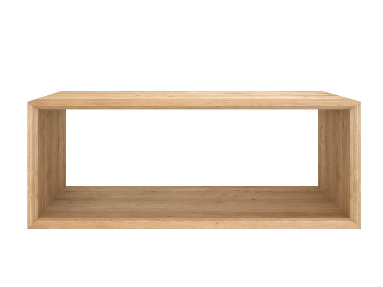 Table basse rectangulaire en bois massif collection oak for Table basse rectangulaire bois