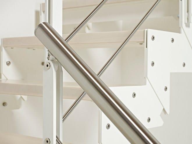 Escalier ouvert quart tournant en acier et bois domino - Escalier ouvert ...
