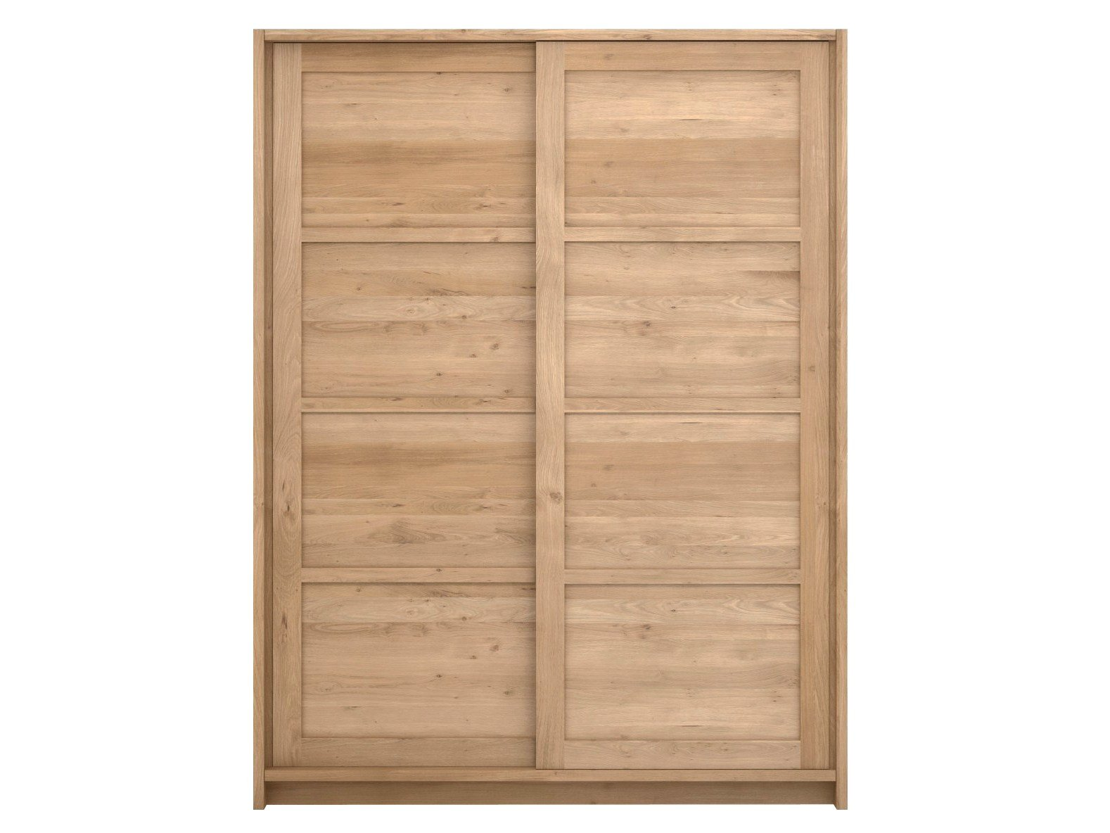 Oak knockdown armoire portes coulissantes by ethnicraft for Porte en bois