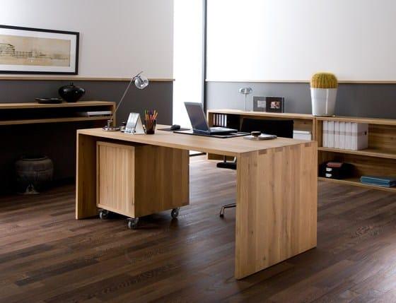 oak office bureau by ethnicraft. Black Bedroom Furniture Sets. Home Design Ideas