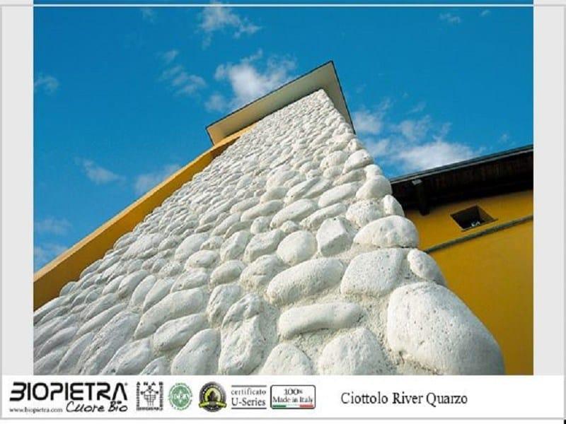 Elemento de piedra artificial para fachada ciottolo river - Piedra artificial fachadas ...