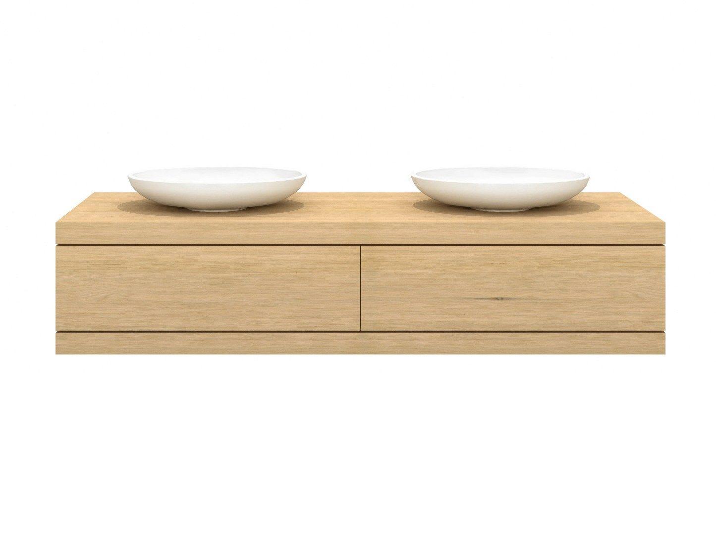 oak cadence meuble sous vasque double by ethnicraft. Black Bedroom Furniture Sets. Home Design Ideas