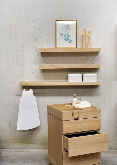 Estantes Para El Baño:Oak Bathroom Shelves