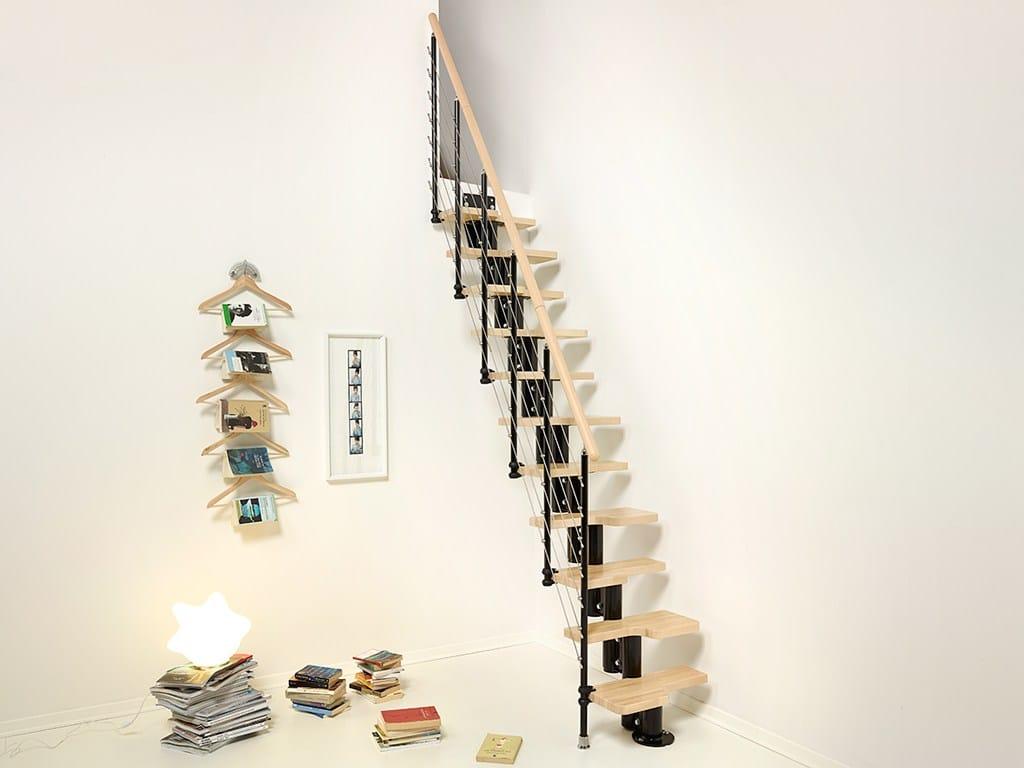 Mini escalier en acier et bois pixima mini tube by for Scale leroy merlin