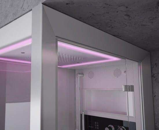 cabine de douche multifonction vapeur frame 100 by jacuzzi europe design mario ferrarini. Black Bedroom Furniture Sets. Home Design Ideas