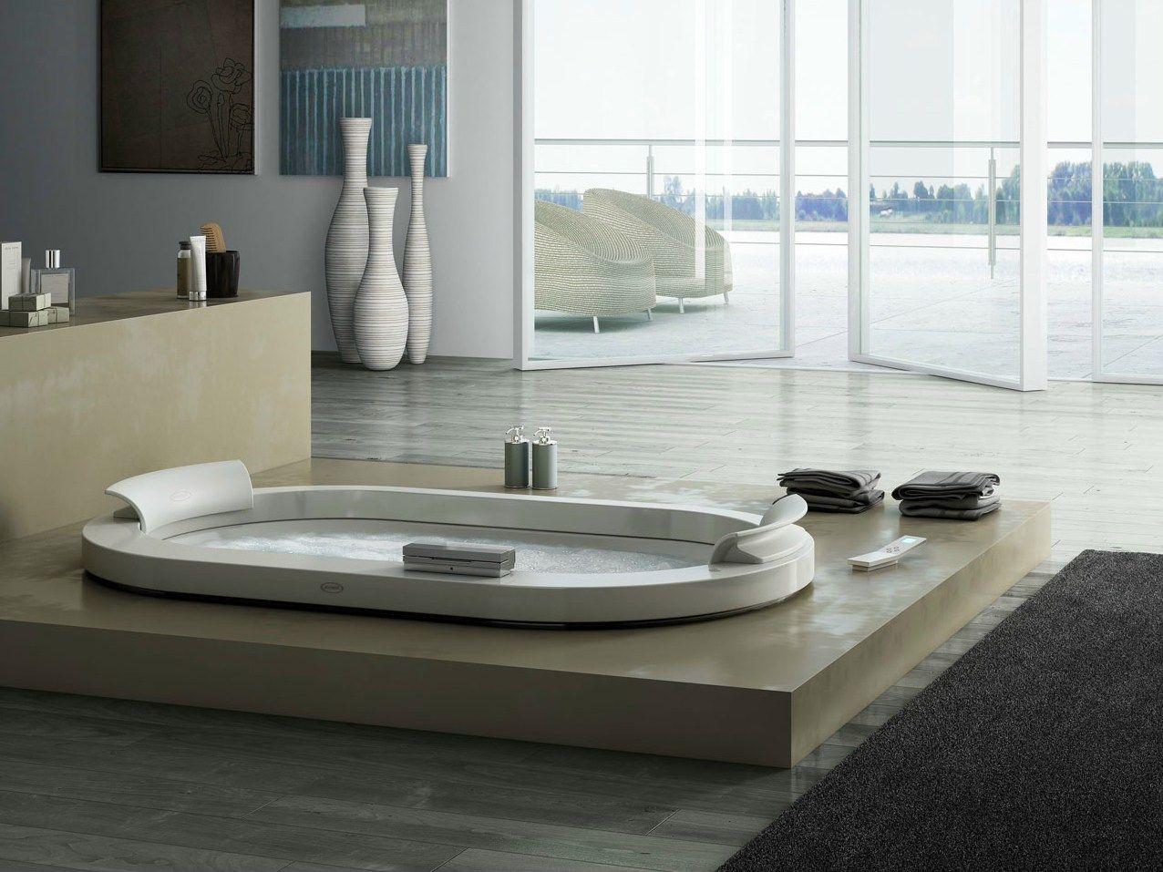 Vasca da bagno idromassaggio da incasso con top in corian - Vernici per vasche da bagno ...