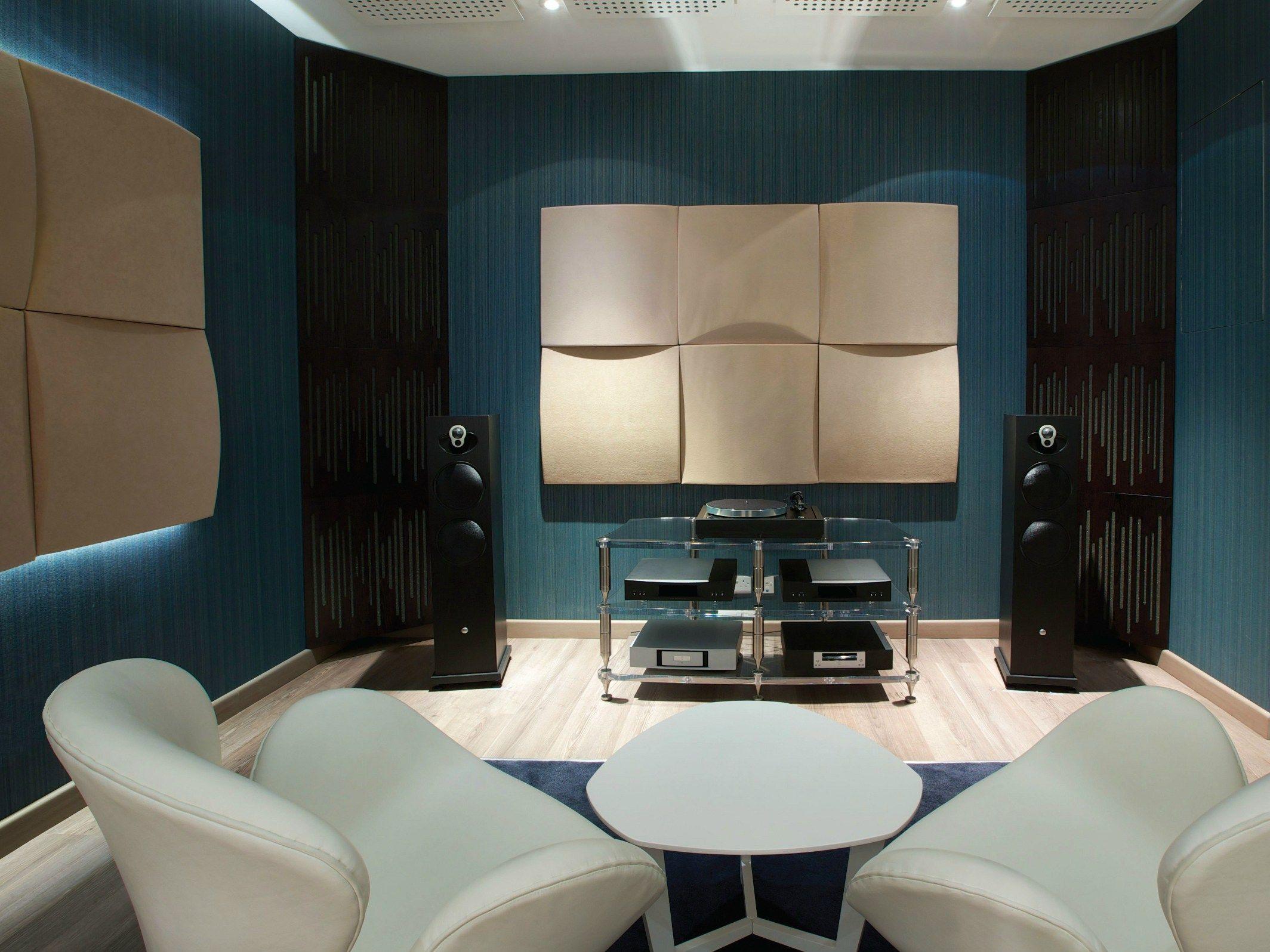 panneaux acoustiques d coratifs en mousse cinema round 120 7 premium by vicoustic by exhibo. Black Bedroom Furniture Sets. Home Design Ideas