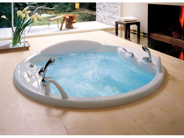 2 seater whirlpool built in bathtub gemini by jacuzzi europe design carlo urb - Jacuzzi 2 places dimensions ...