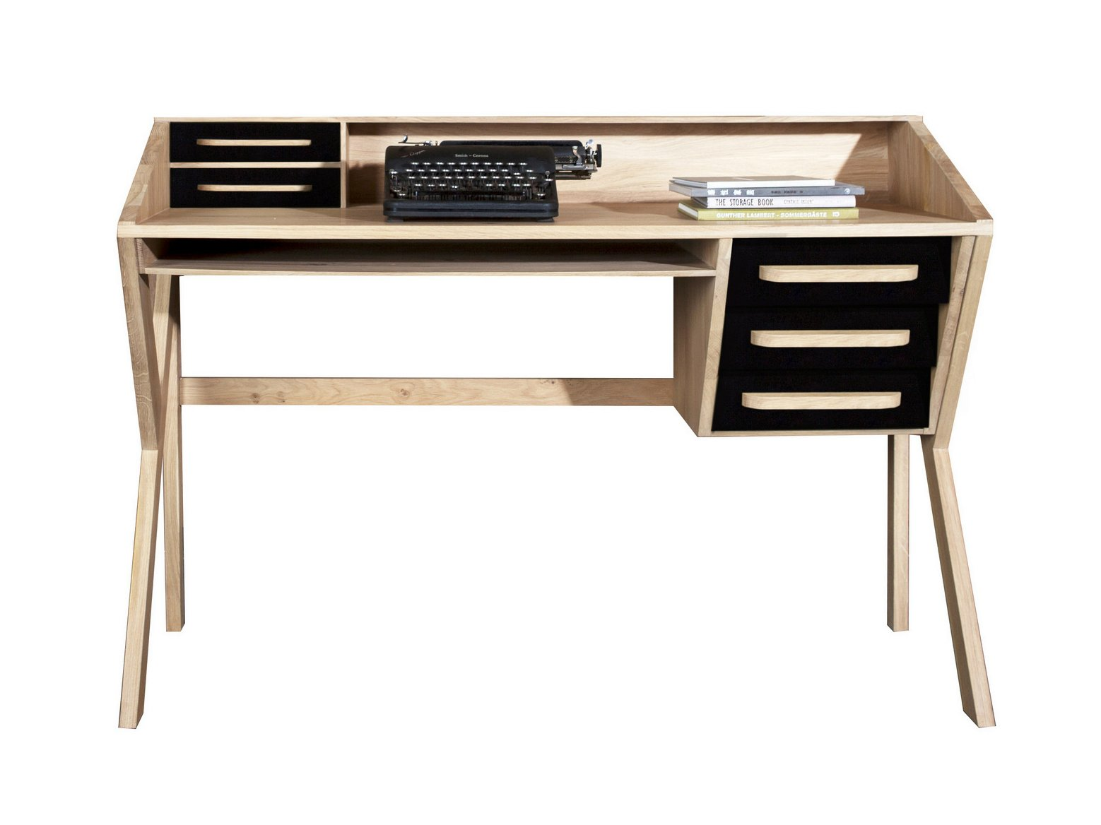 origami writing desk by ethnicraft. Black Bedroom Furniture Sets. Home Design Ideas