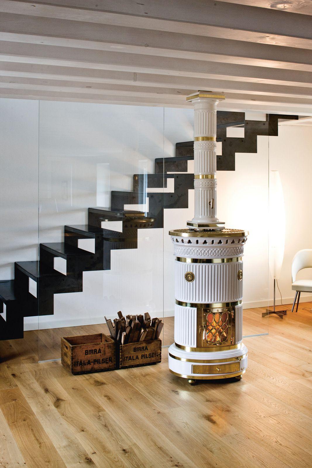 stufa a legna in ceramica ad accumulo maria luigia by. Black Bedroom Furniture Sets. Home Design Ideas