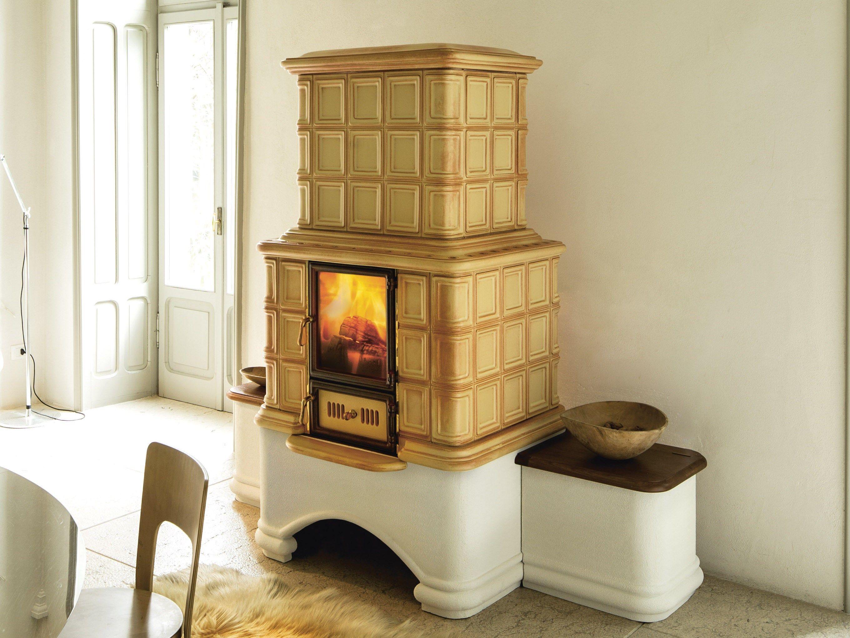 Stufa a legna in ceramica ad accumulo elizabeth l a by - Stufa ad accumulo prezzi ...