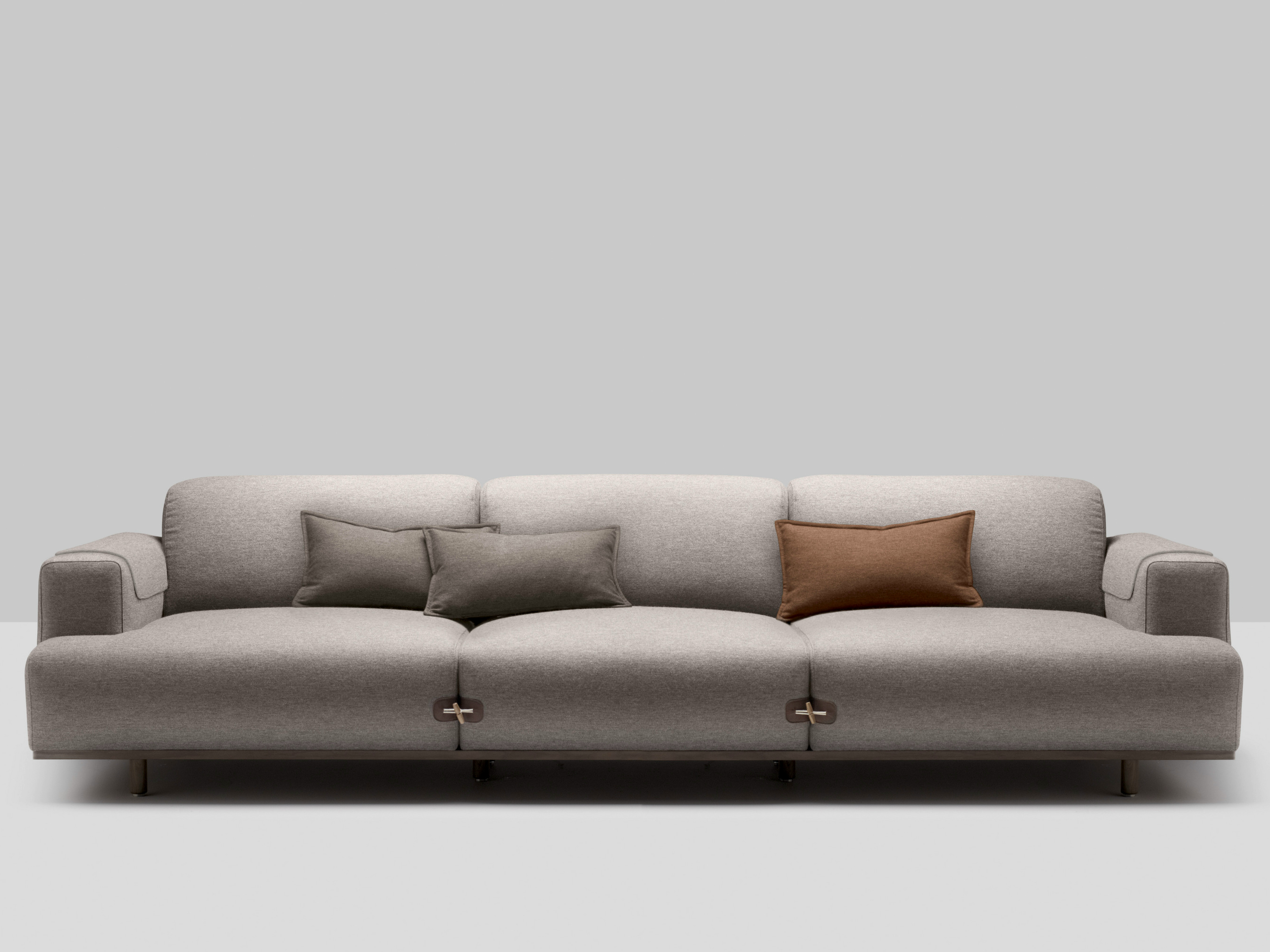 3 SEATER UPHOLSTERED FABRIC SOFA DUFFLE COLLECTION BY BOSC