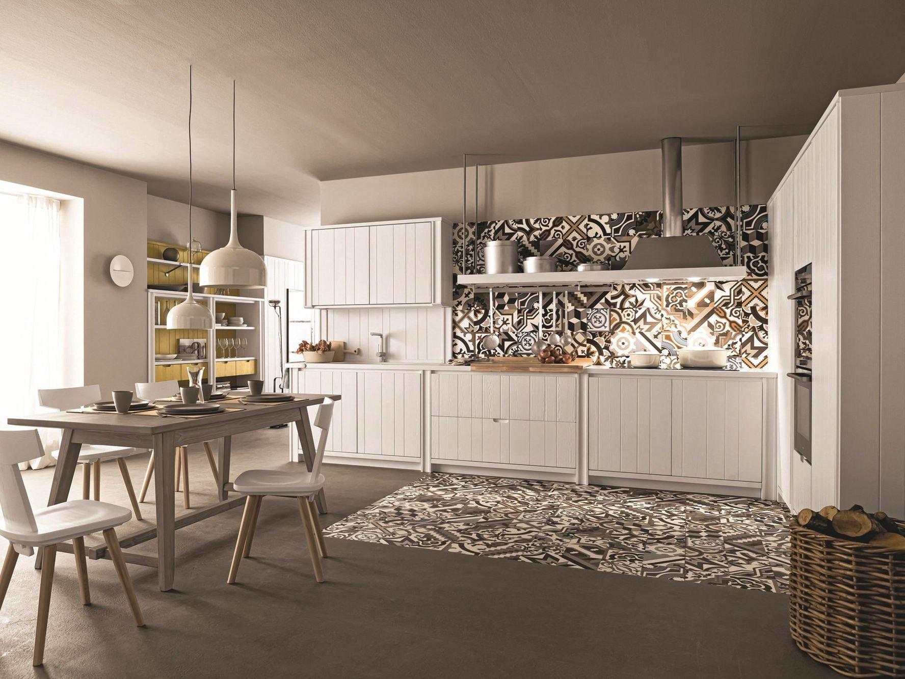 Cucina lineare in abete gesso maestrale 04 by scandola mobili for Scandola mobili