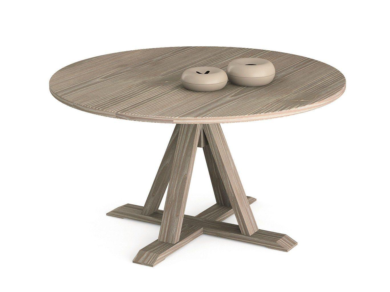 Maestrale tavolo rotondo by scandola mobili - Tavolo rotondo in legno ...