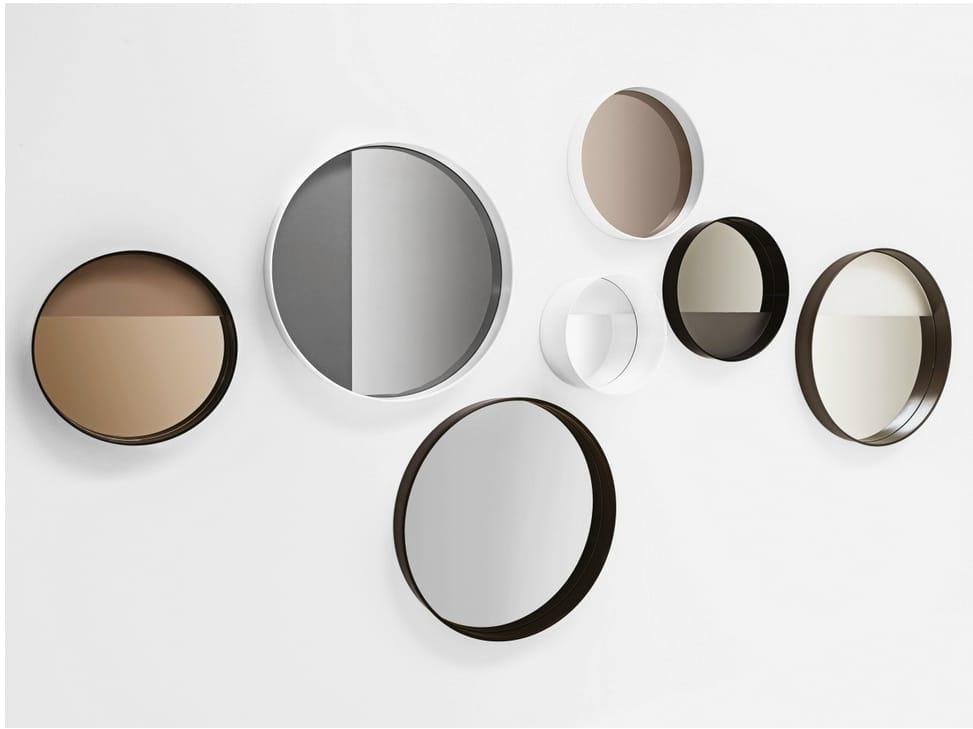 runder spiegel zur wandmontage mit rahmen horizon by sovet. Black Bedroom Furniture Sets. Home Design Ideas