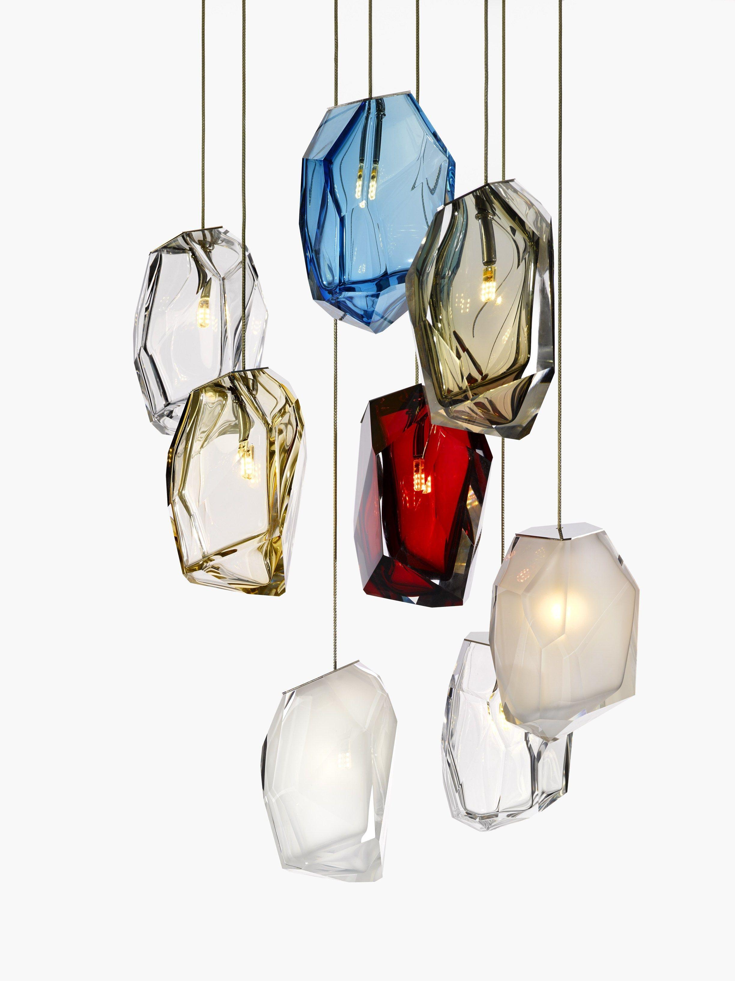 Lampade vetro design: lampada fibra di vetro colorata design ...